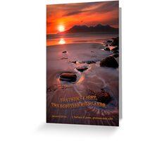 Calendar, Northern Light, The Scottish Highlands, Second Edition. Greeting Card