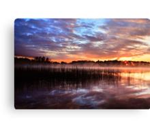 Sunset reflection on lake Canvas Print