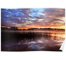 Sunset reflection on lake Poster