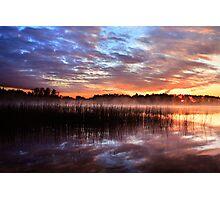 Sunset reflection on lake Photographic Print