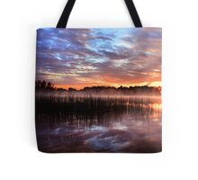 Sunset reflection on lake Tote Bag