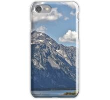 Teton Range Across Jackson Lake iPhone Case/Skin