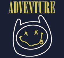 Finn Adventure Time Smile One Piece - Long Sleeve
