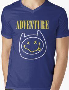 Finn Adventure Time Smile Mens V-Neck T-Shirt
