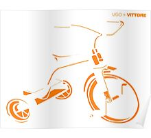 Ugo & Vittore Tricycle Poster