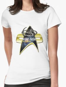 StarTrek Deep Space Nine  Com badge Womens Fitted T-Shirt