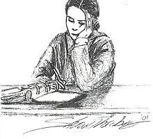 Debi study in pen by agenttomcat