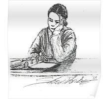 Debi study in pen Poster