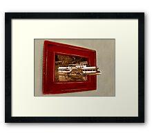 Paddleboat escape Framed Print