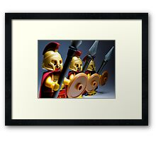 The 3... Spartans Framed Print