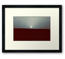shining sun Framed Print