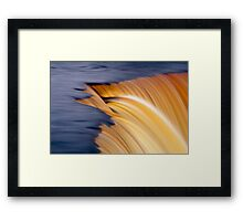 Slow motion waterfall Framed Print