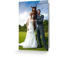 Equine Couple Greeting Card