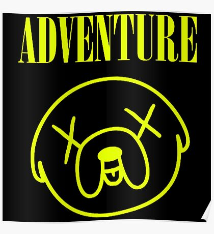 Jake Adventure Time Face Poster