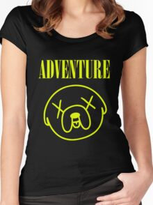 Jake Adventure Time Face Women's Fitted Scoop T-Shirt