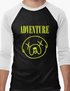 Jake Adventure Time Face Men's Baseball ¾ T-Shirt