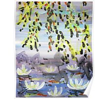Mountains and Water Lillies Poster
