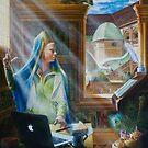 The Virgin, oil on canvas, 2010. by fiona vermeeren