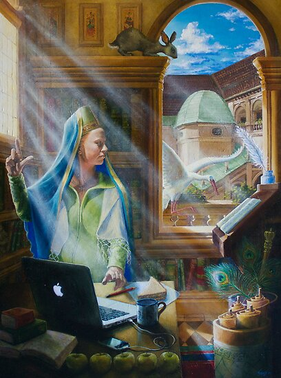 The Virgin, oil on canvas, 2010. by fiona vermeeren