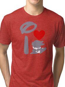 I Heart Thumper (Inverted) Tri-blend T-Shirt