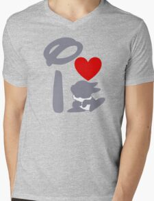 I Heart Thumper (Inverted) Mens V-Neck T-Shirt