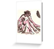 Exhausted Greeting Card