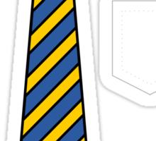 Blue & yellow Club Tie... Sticker
