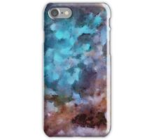 Lilac-azure abstract art iPhone Case/Skin