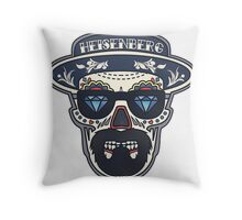 Heisenberg Bad | Day of The Dead Throw Pillow