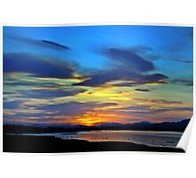 Painted Sunset. Poster
