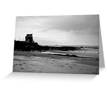 black and white 10 Greeting Card