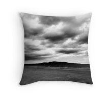 black and white 11 Throw Pillow