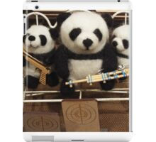 Pandas With Guns iPad Case/Skin