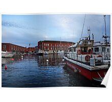 Red Naples Harbor - Vigili del Fuoco Poster