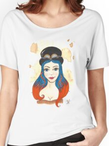 Blue and Orange Steampunk Women's Relaxed Fit T-Shirt