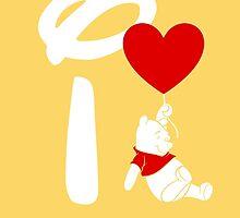 I Heart Pooh Bear (Inverted) by ShopGirl91706