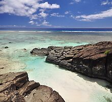 Black Rock - Rarotonga, the Cook Islands by darylbowen