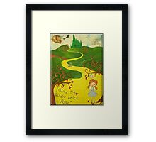 Far Over The Oz Rainbow  Framed Print