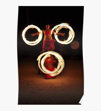 Fire Dance - Rarotonga Poster