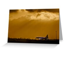 Concorde departing Luton Greeting Card