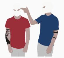 Twenty One Pilots Guns for Hands Colour Silhouette by Hannah Marland