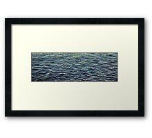 Highlights on Black Water Framed Print
