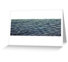 Highlights on Black Water Greeting Card