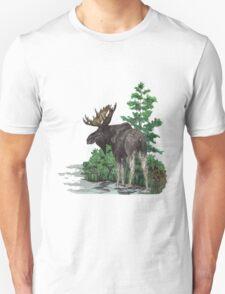Moose watercolor  Unisex T-Shirt