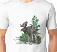 Moose watercolor  Unisex T-Shirt