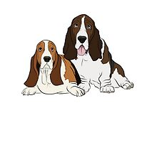 Two Bassets  by rmcbuckeye