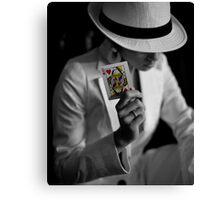 Poker Queen Canvas Print