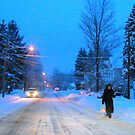 Snowy Commute by Geno Rugh