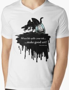 Make Good Art (Ink Dragon) Mens V-Neck T-Shirt