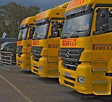 The paddock british superbike pirelli support trucks by markbailey74